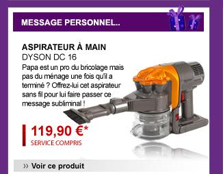 Aspirateur à main DYSON DC 16