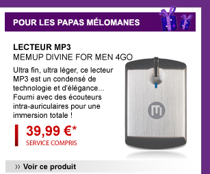 Lecteur mp3 MEMUP divine for men 4G