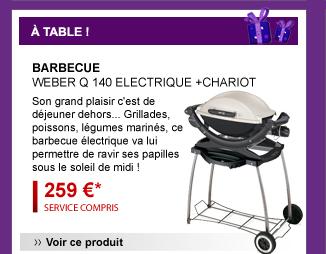 Barbecue Weber Q 140 ELECTRIQUE +CHARIOT