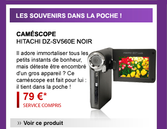 camescope HITACHI DZ-SV560E NOIR