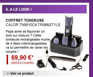 Coffret tondeuse Calor TN9010C4 TRIM&STYLE