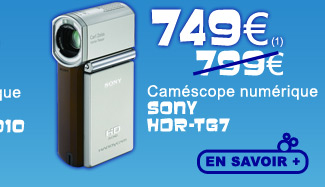 Caméscope Sony HDR TG7 749€