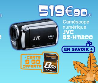 Caméscope JVC GZ HM200 519€90