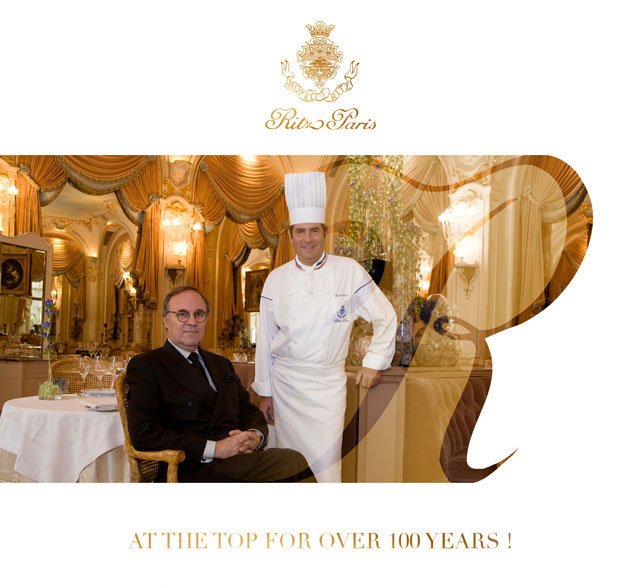 Ritz Paris at the top over 100 years